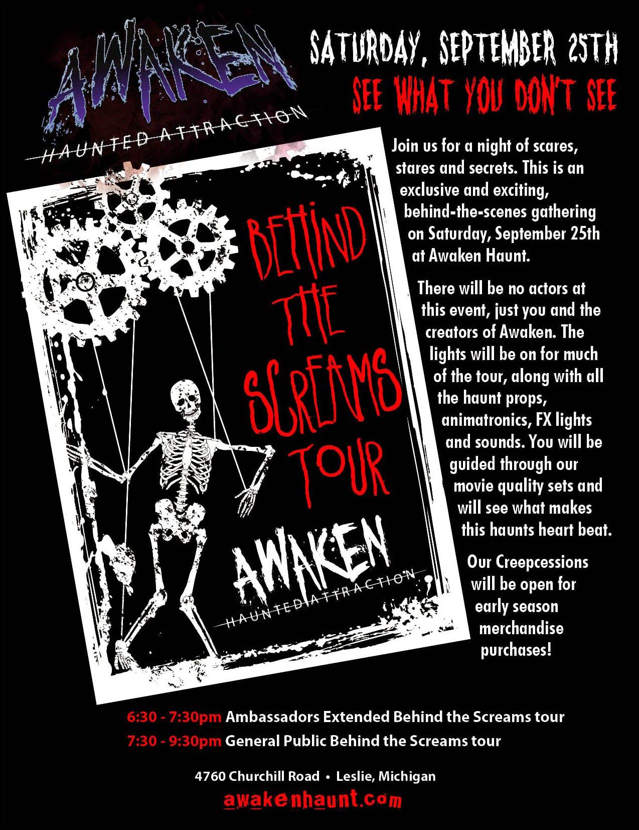 Behind the Screams invite